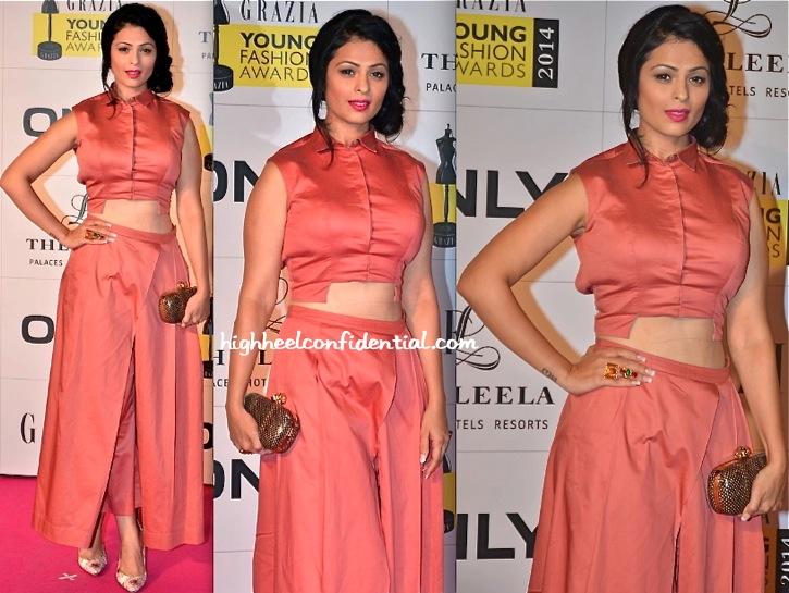 Anjana Sukhani In ILK At Grazia Young Fashion Awards 2014