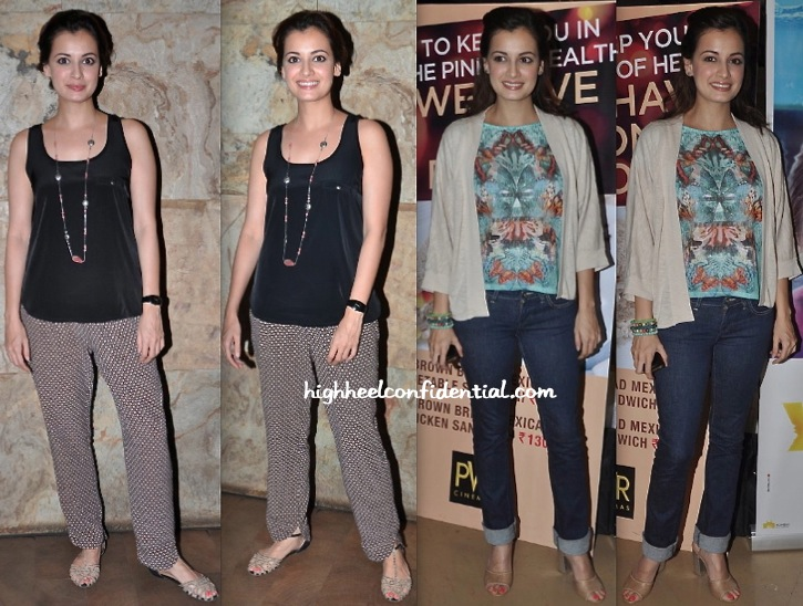 Dia Mirza At 'Youngistan' And 'Yellow' Screening