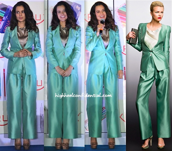 Kangna Ranaut In Giorgio Armani At Krux Stationary Launch-1