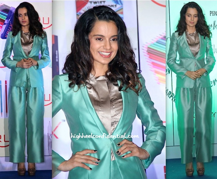 Kangna Ranaut In Giorgio Armani At Krux Stationary Launch-2