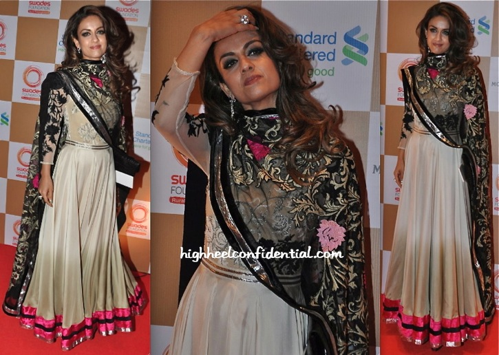 Natasha Poonawala In Varun Bahl At Swades Foundation Event