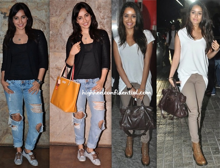 Neha Sharma And Shraddha Kapoor At 'Youngistan' Screening