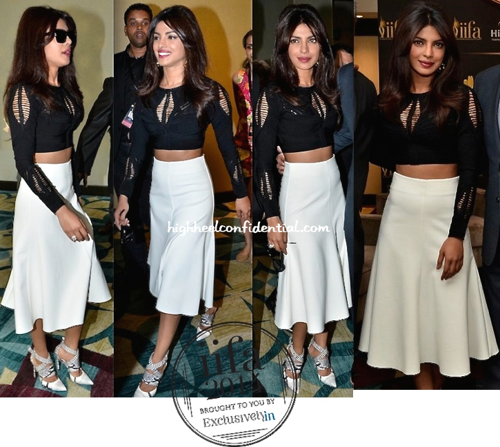 Priyanka Chopra In Hervé Léger At IIFA 2014 Press Conference In Tampa-1