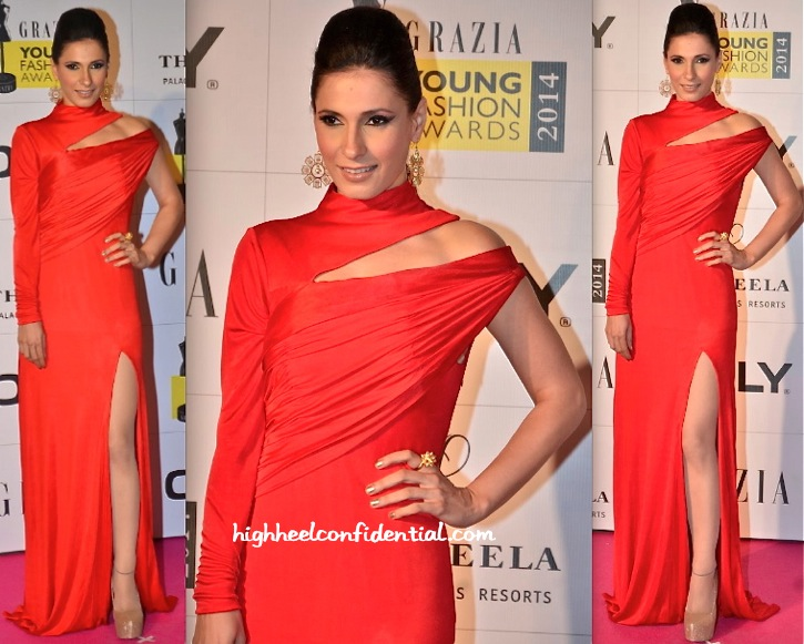 Ramona Arena In Junelia Aguiar At Grazia Young Fashion Awards 2014