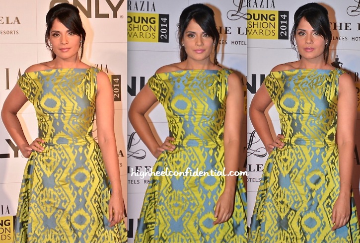 Richa Chadda In Vivienne Westwood At Grazia Young Fashion Awards 2014-2