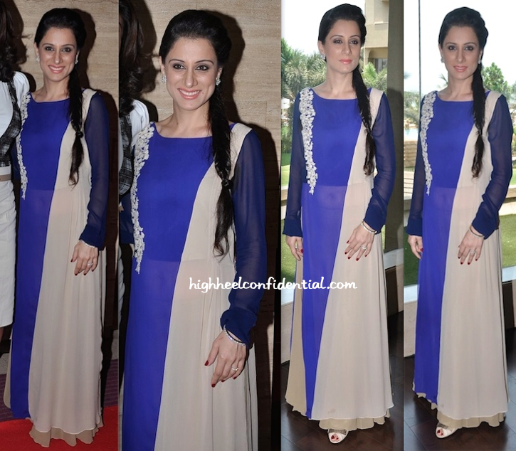 Rouble Nagi In Manish Malhotra At The Luncheon She Hosted