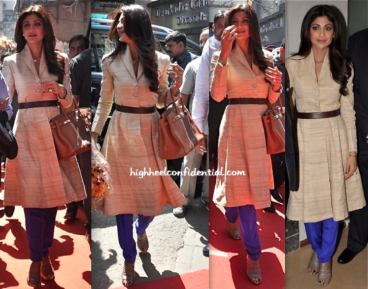 Shilpa Shetty Wears Neeta Lulla To The Launch Of 'Satyug Gold'-1