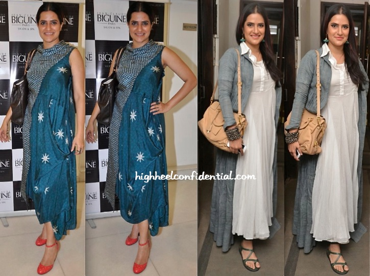 Sona Mohapatra Wears Myoho In Her Music Video, To Nikhat Khan's Art Exhibition And To Juhi Pande's Book Reading-1