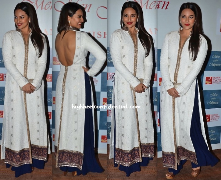 Sonakshi Sinha At Manish Malhotra's Men For Mijwan Show