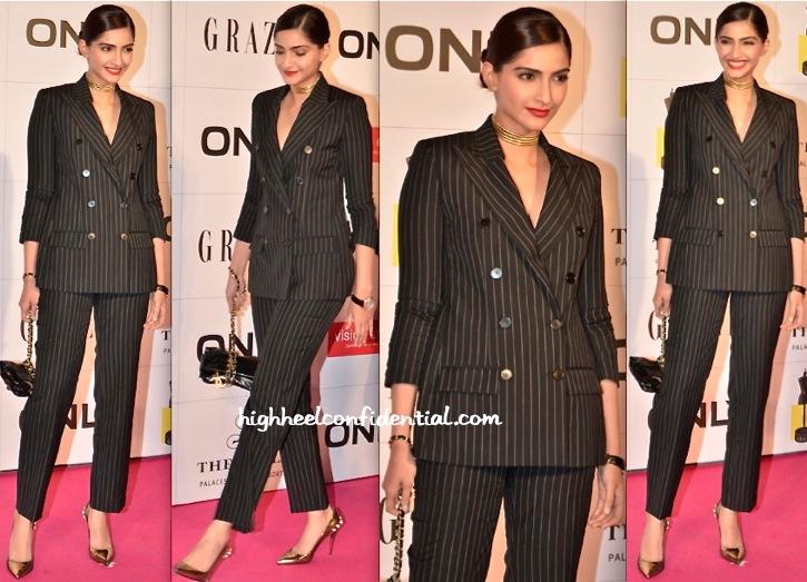 Sonam Kapoor At Grazia Young Fashion Awards 2014-1