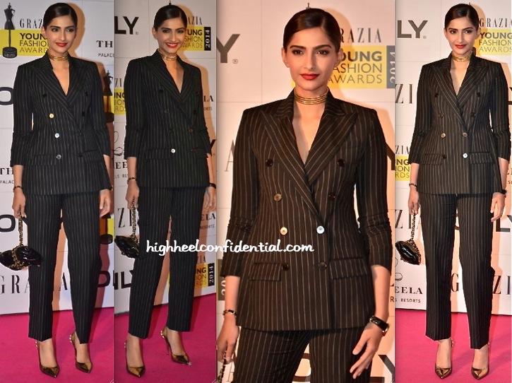 Sonam Kapoor At Grazia Young Fashion Awards 2014-2