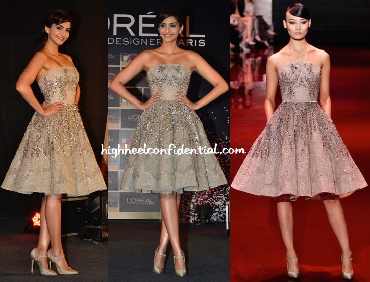Sonam Kapoor In Elie Saab Couture At L'Oréal Paris Festival De Cannes Collection Launch-1