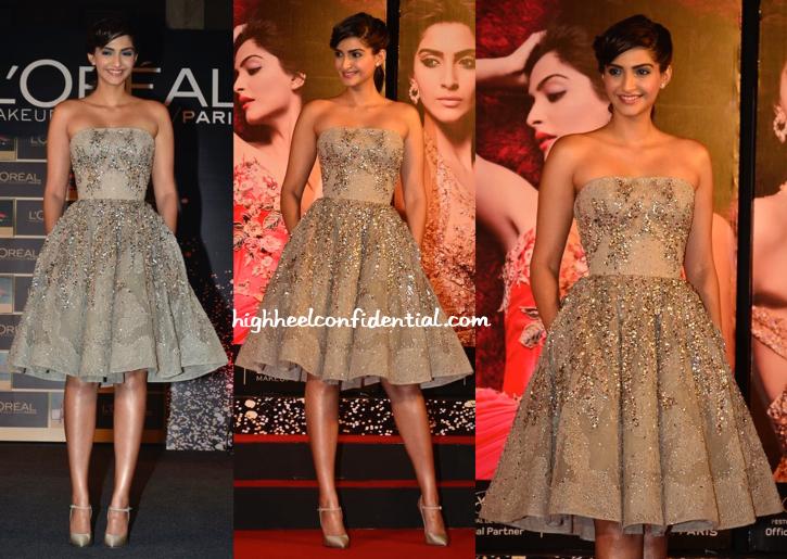 Sonam Kapoor In Elie Saab Couture At L'Oréal Paris Festival De Cannes Collection Launch-2