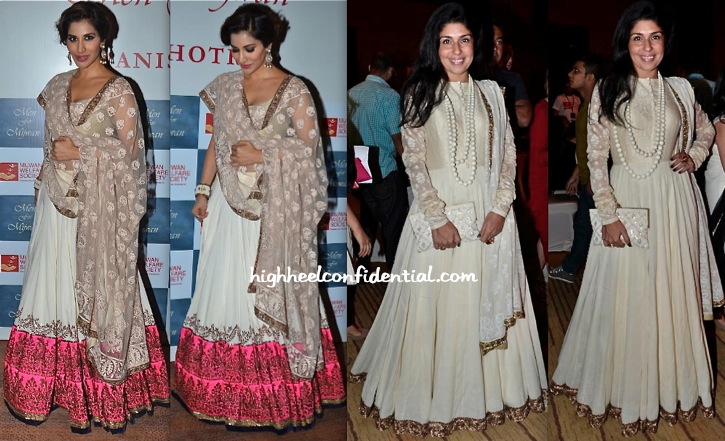 Sophie Choudry And Anaita Shroff Adajania At Manish Malhotra's 'Men For Mijwan' Show