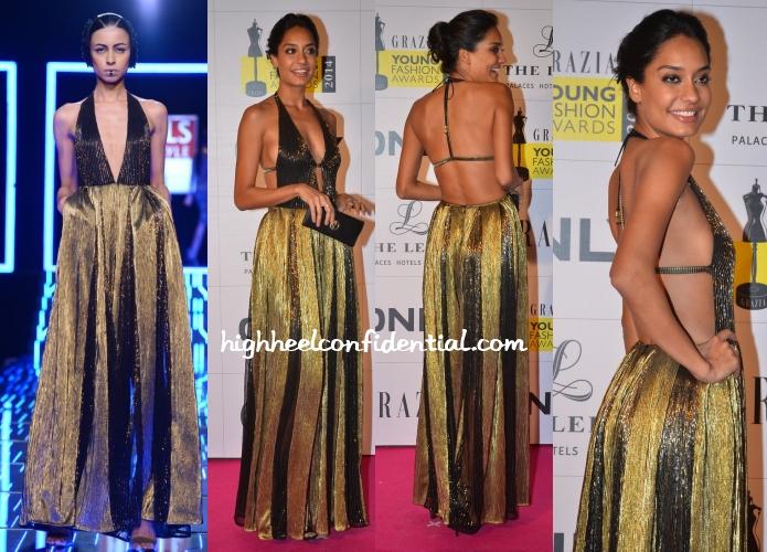 lisa-haydon-namrata-joshipura-grazia-young-fashion-awards-2014