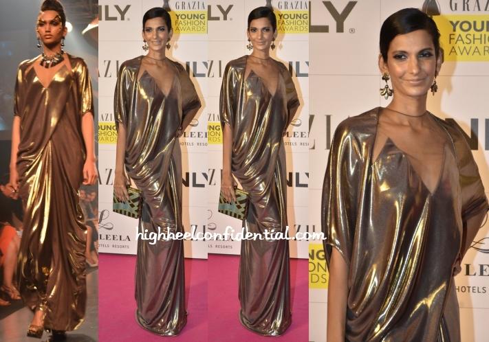 poorna-jagannathan-gaurav-gupta-grazia-young-fashion-awards-2014