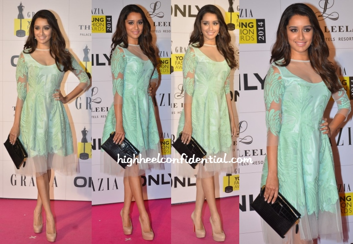 shraddha-kapoor-pankaj-nidhi-grazua-young-fashion-awards-2014