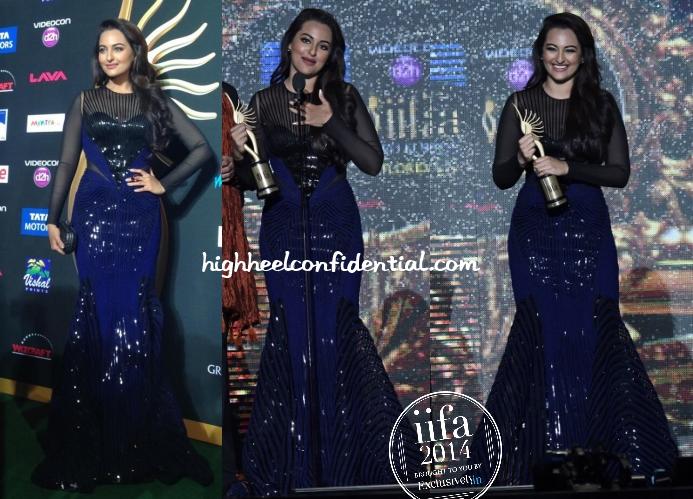 sonakshi-sinha-amit-aggarwal-iifa-awards-2014-blue-gown