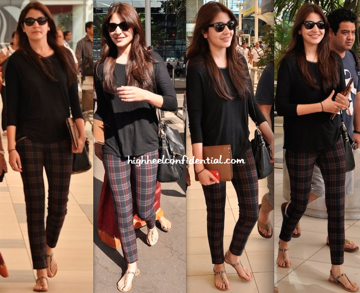 Anushka Sharma Photographed At Mumbai Airport