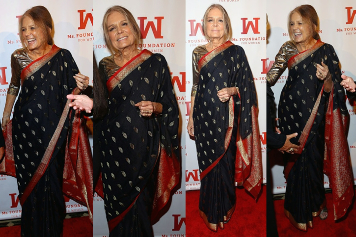 Gloria Steinem Wears A Sari To The Ms. Foundation Women Of Vision Gala 2014