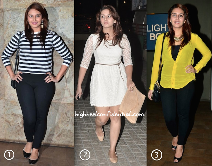 Huma Qureshi At Queen, Main Tera Hero & Hawaa Hawaai Movie Screenings-1