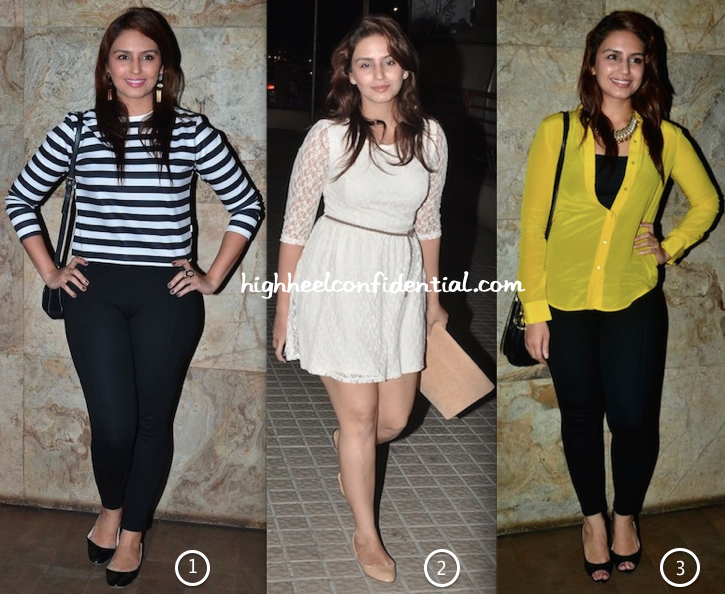 Huma Qureshi At Queen, Main Tera Hero & Hawaa Hawaai Movie Screenings-2