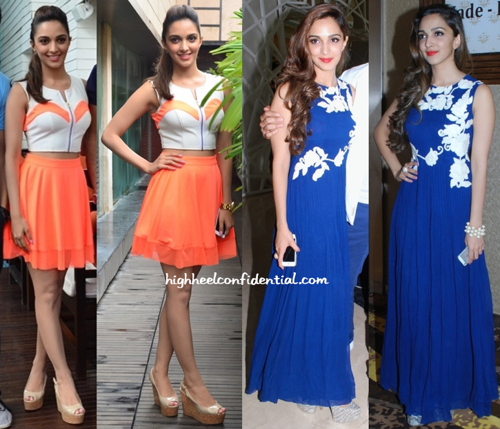 Kiara Advani Promotes 'Fugly' Wearing Carousel by Simran Arya And Ridhi Mehra