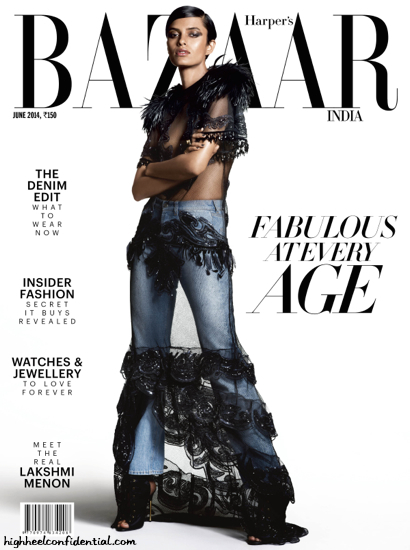 Lakshmi Menon Covers Harper's Bazaar June '14 Issue Wearing Louis Vuitton