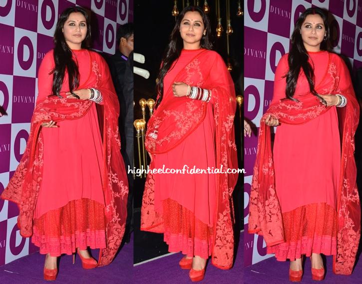 Rani Mukherjee In Sabyasachi At Diva'Ni Store Launch-1