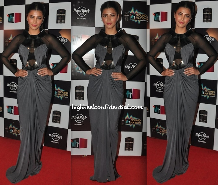 Shruti Haasan At VH1 Sound Nation Awards In Amit Aggarwal