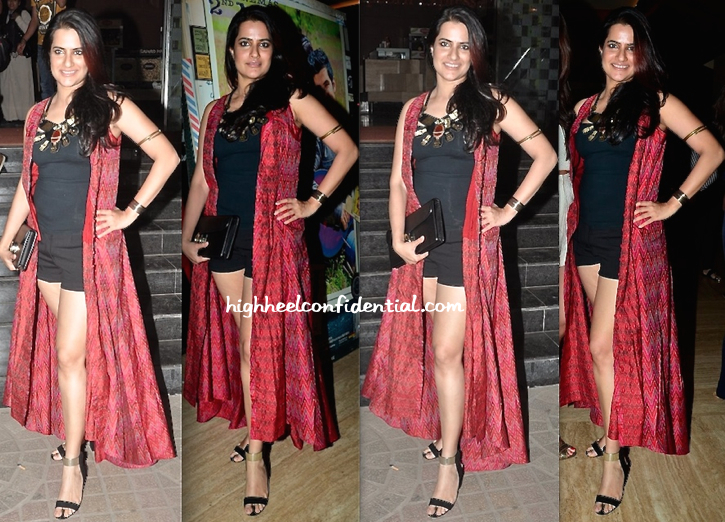 Sona Mohapatra In Anita Dongre At 'Purani Jeans' Screening