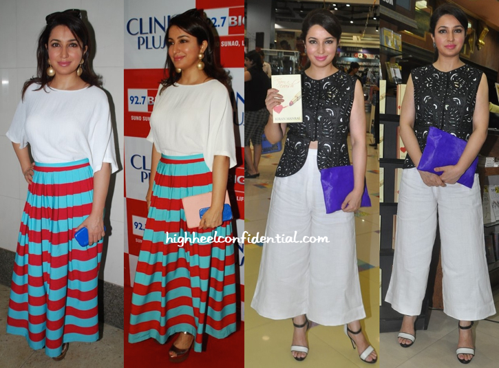 Tisca Chopra In Masaba At A Radio Feature Film Launch And At Kiran Manral's Book Launch-1