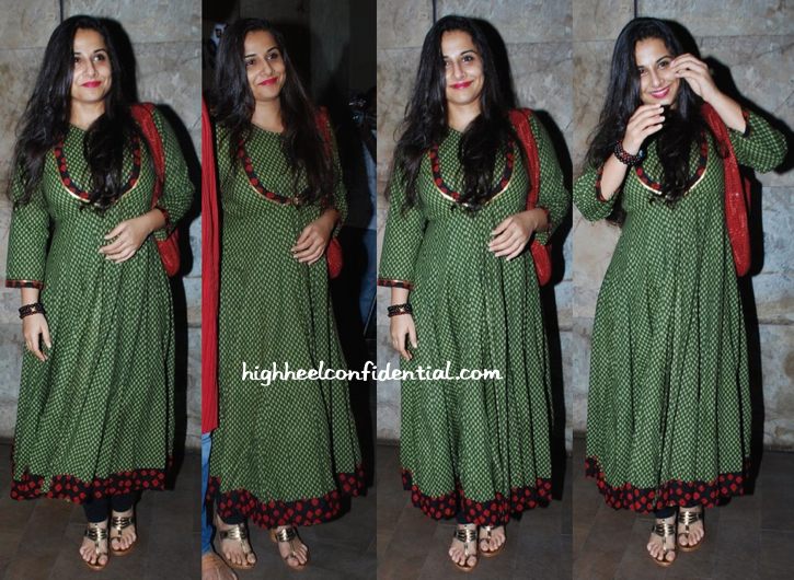 Vidya Balan At 'Citylights' Screening