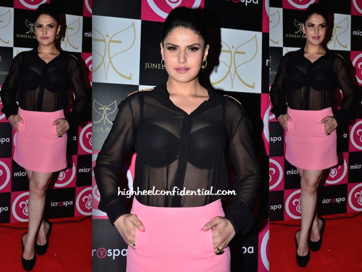 Zarine Khan At MicroSpa Launch In Koovs And Zara