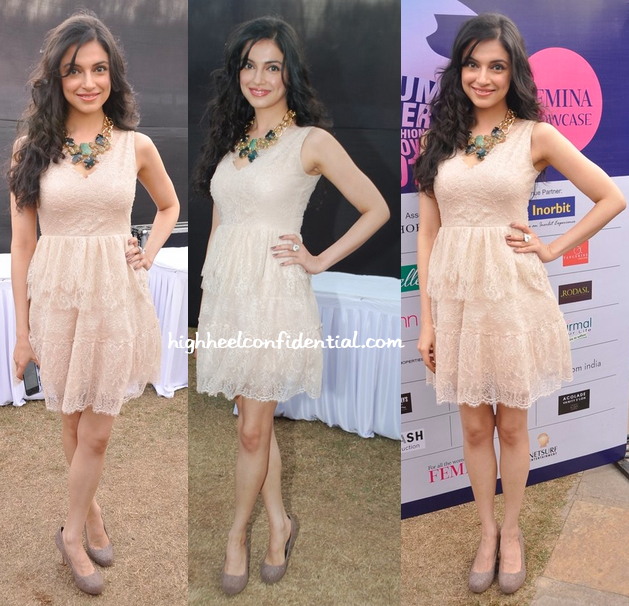 divya khosla kumar at femina showcase event