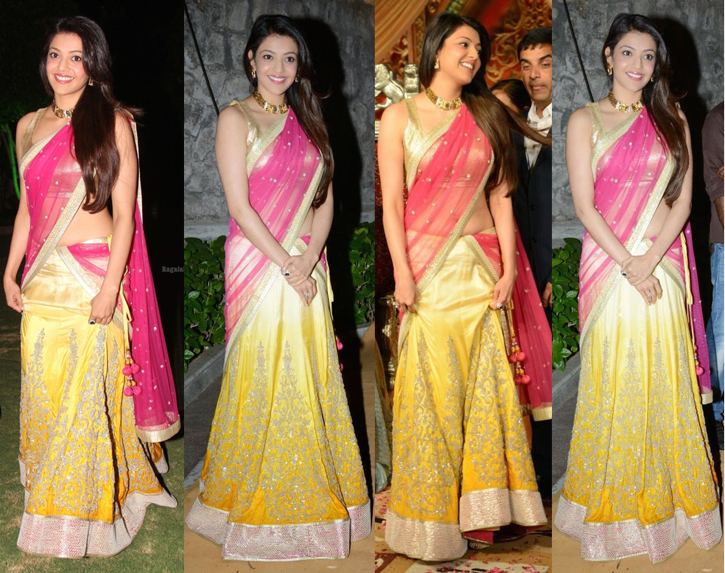 kajal agarwal in sva at dil raju reception