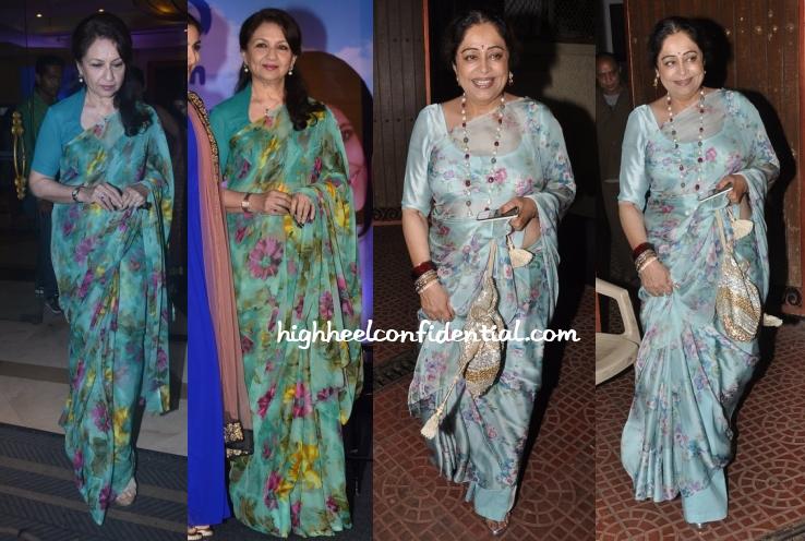 sharmila-tagore-kirron-kher-floral-saris