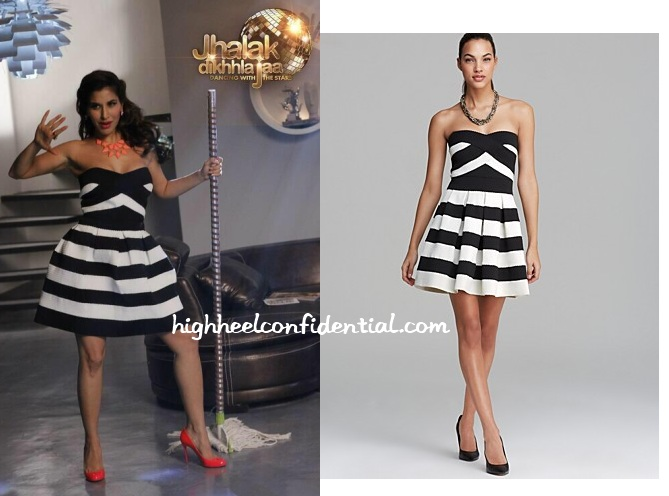 sophie-choudry-alythea-jhalak-dikhhla-jaa-striped-dress