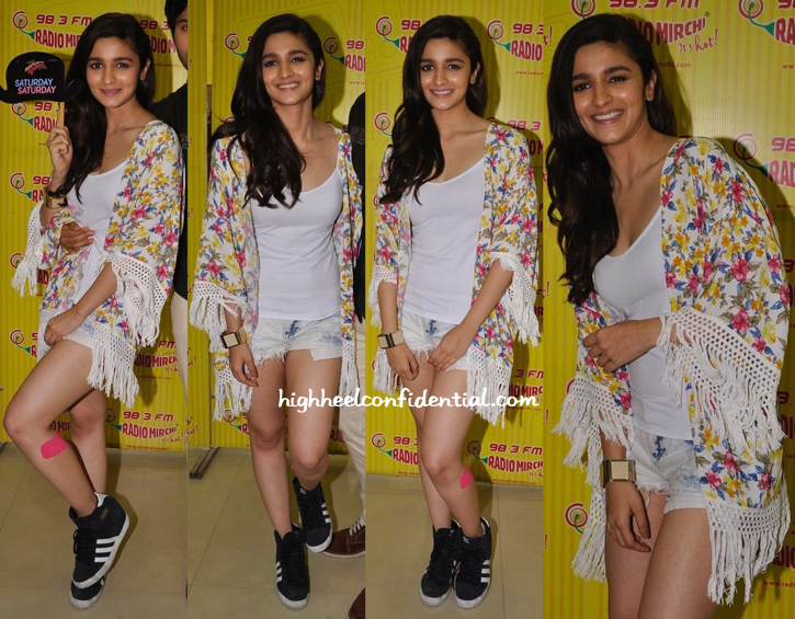 Alia Bhatt At Radio Mirchi Studios For 'Humpty Sharma Ki Dulhania' Promotions