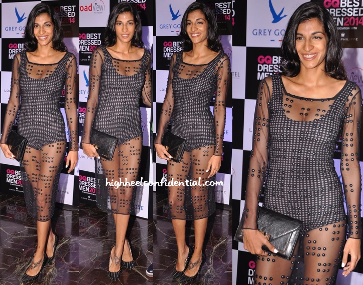 Anushka Manchanda In Anand Bhushan At GQ Best Dressed Men 2014