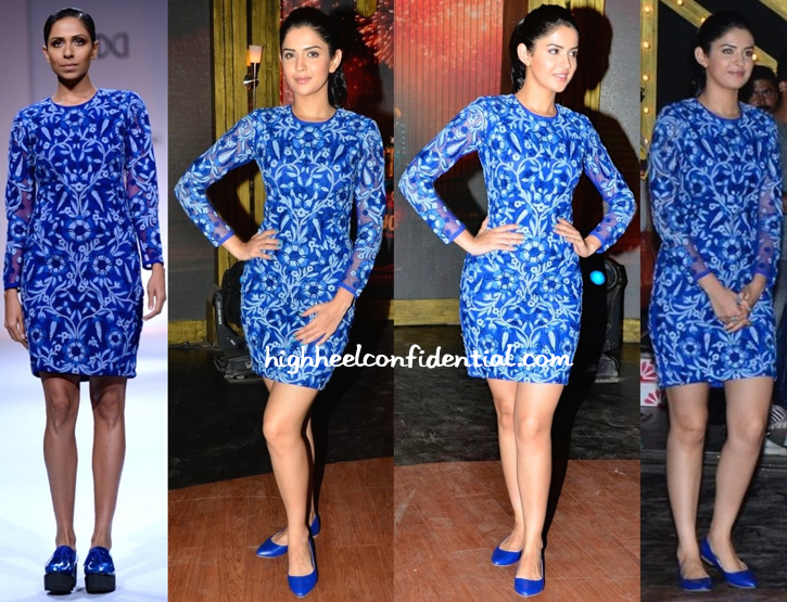 Deeksha Seth In Jenjum Gadi On Entertainment Ke Liye Kuch Bhi Karega Sets For 'Lekar Hum Deewana Dil' Promotions-1
