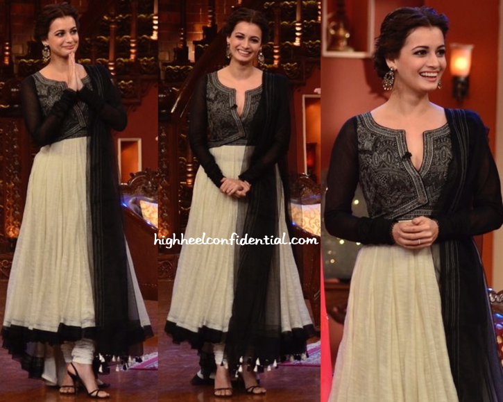Dia Mirza In JJ Valaya On 'Comedy Nights With Kapil' Sets For 'Bobby Jasoos' Promotions-1