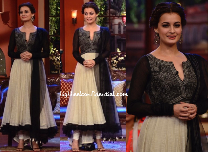 Dia Mirza In JJ Valaya On 'Comedy Nights With Kapil' Sets For 'Bobby Jasoos' Promotions-2