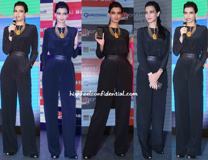 Diana Penty In Shivan & Narresh At Micromax Mobile Launch