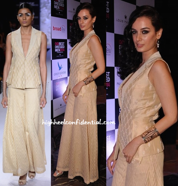 Evelyn Sharma In Anita Dongre At GQ Best Dressed Men 2014