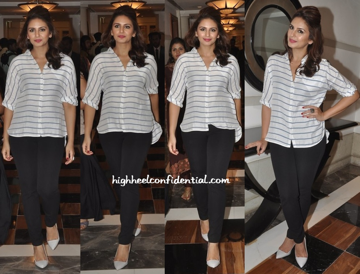 Huma Qureshi In Zara At A Press Meet For Malaysian Palm Oil