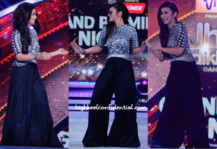 In Rahul Mishra- Alia Bhatt On 'Jhalak Dikhhla Jaa' Sets For 'Humpty Sharma Ki Dulhania' Promotions-1