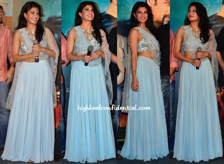 Jacqueline Fernandez In Shehlaa At 'Kick' Trailer Launch-1