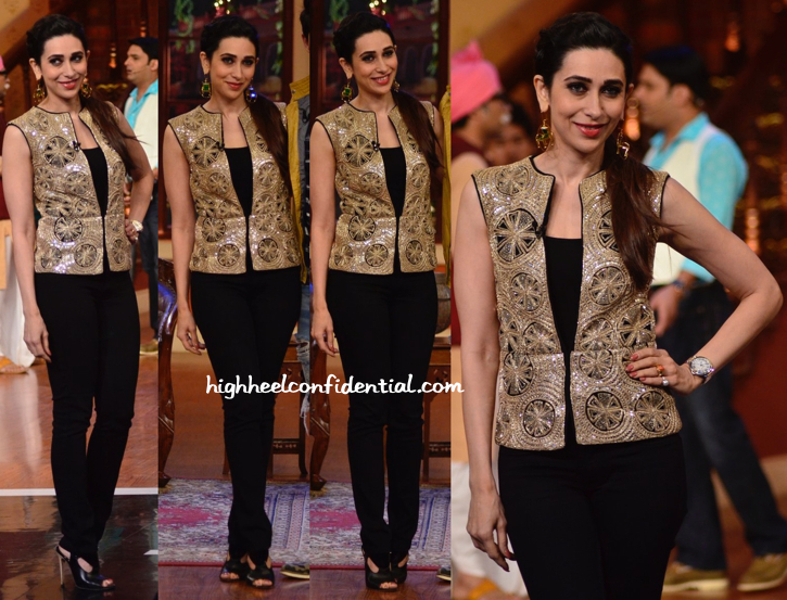Karisma Kapoor In Ritika Mirchandani And Mrinalini Chandra On Comedy Nights With Kapil Sets-1