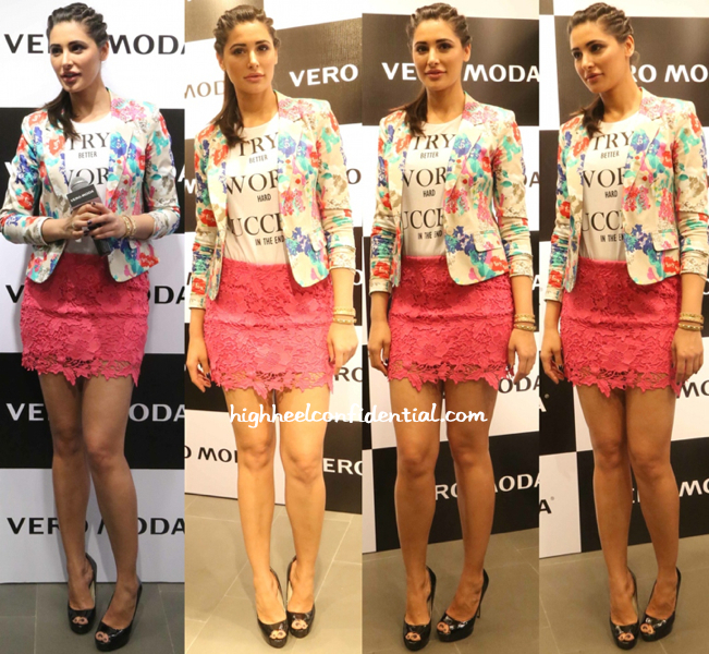 Nargis Fakhri At Vero Moda Store Launch, Delhi